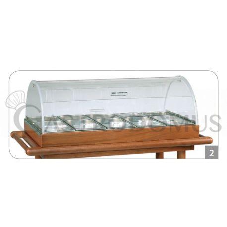 Set per antipasti- cupola e bacinelle