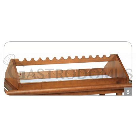 Portabottiglie superiore in legno 13 posti