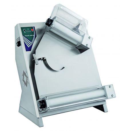 Stendipizza rulli inclinati in inox per pizze diam. 26/40 cm avviamento automatico