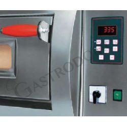 Dettaglio forno elettrico per 18 pizze diametro 30/34 cm con 2 camere a controllo digitale