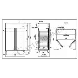 Armadio refrigerato 1400 Lt. temp. 0/+10° 2 porte