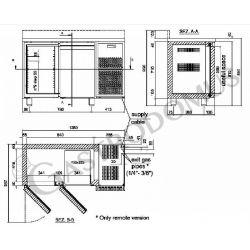 Tavolo refrigerato 2 porte Prof. 600 mm - temperatura 0°C/+10°C