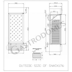 Armadio a refrigerazione statica - capacità 171 LT
