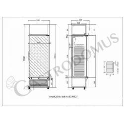 Armadio a refrigerazione statica - capacità 244 LT