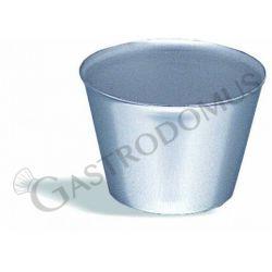 Stampo per flan in acciaio inox, diametro 7 cm e altezza 5,5 cm