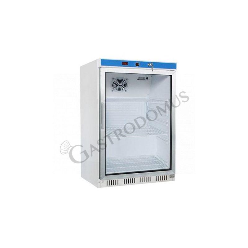 Armadio refrigerato statico- porta vetro - temperatura +2°C/+8°C - capacità 130 LT