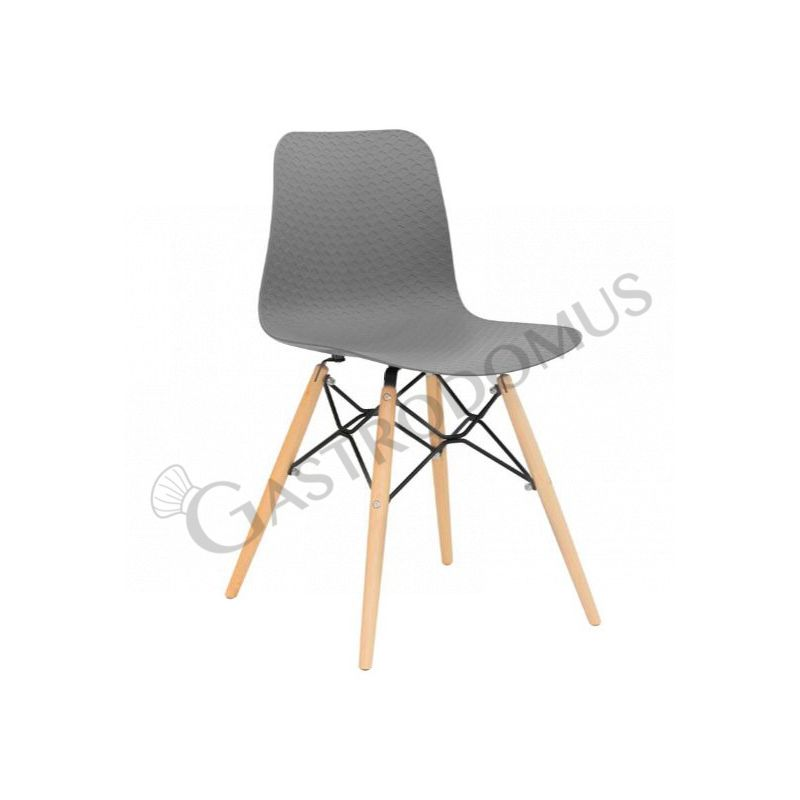 Sedie Metallo E Legno.Sedia Serena Con Struttura In Metallo E Legno Mod 1103 Net08