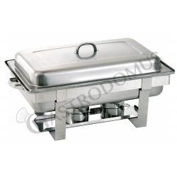 Chafing dish con fornelletti per contenitori GN1/1 di altezza 65 mm