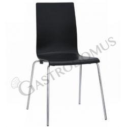 Sedia Lube con struttura in metallo cromato seduta e schienale in polipropilene