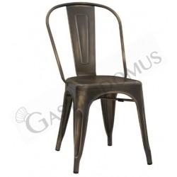 Sedia Montex con struttura, seduta e schienale in metallo verniciato effetto canna di fucile