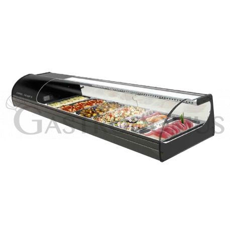 Vetrina per sushi capacità 6 bacinelle GN1/3