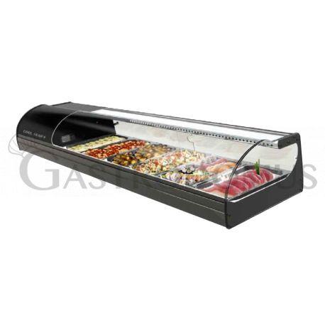 Vetrina per sushi capacità 8 bacinelle GN1/3