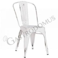 Sedia Paiper con struttura, seduta e schienale in metallo verniciato