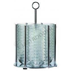 Stand portaciotole inox di diametro 175 mm e altezza 255 mm