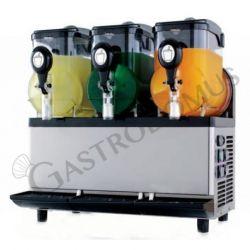 Granitore sorbettiera con 3 vasca di capacità 5 litri + 5 litri + 5 litri