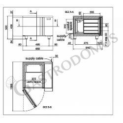 Abbattitore digitale in acciaio inox - predisposto per 3 teglie GN 2/3