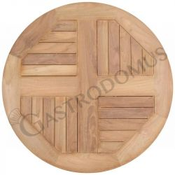 Piano rotondo in teak per esterno, diametro 60 cm