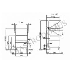 Lavapiatti elettronica a capotta - cesto 67 x 60 cm - altezza piatti 41,5 cm