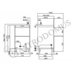 Lavaoggetti elettronica 77,5 x 82 x H 130 cm - cesto 60 x 67