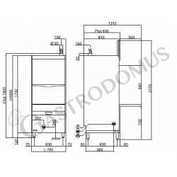 Lavaoggetti elettronica 77,5 x 82 x H 185 cm - cesto 60 x 67