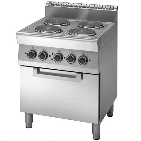 Cucina elettrica 4 piastre - forno elettrico a convezione GN 1/1