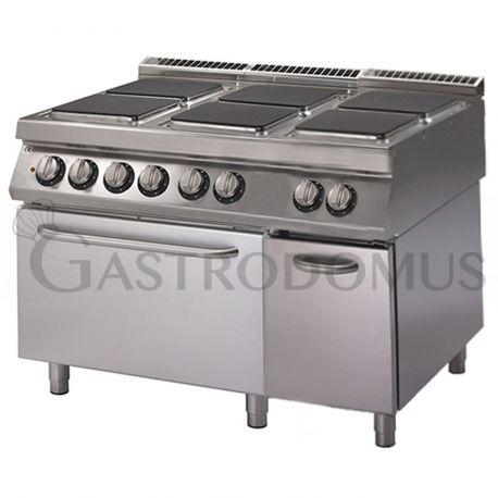 Cucina elettrica - 6 piastre - forno elettrico a convezione - armadio neutro
