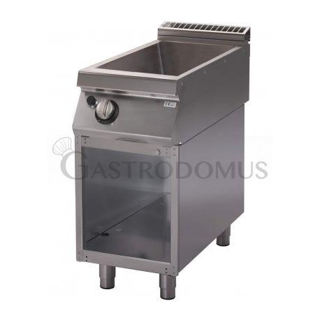 Bagnomaria a gas su armadio aperto - 1 vasca predisposta per bacinelle GN 1/1