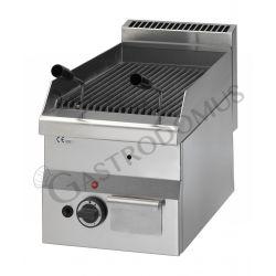 Griglia a gas e pietra lavica da banco - 1 bruciatore - Prof. 600 mm