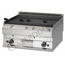 Griglia a gas e pietra lavica da banco - 2 bruciatori - Prof. 650 mm