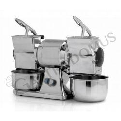 Grattugia doppia trifase - produzione oraria 70 Kg + rullo in acciaio inox