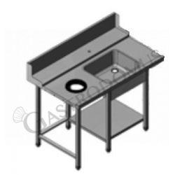 Tavolo entrata sinistra con lavello L 1300 mm