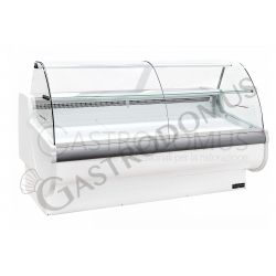 Vetrina espositiva ventilata Nancy full optional, Temp. +1°/+10°C, L 1370 mm