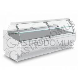 Vetrina espositiva ventilata Carla full optional, Temp. +1°/+10°C, L 2540 mm