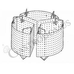 Colapasta 3 settori per pentola 100 litri - fori diametro 5 mm