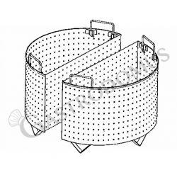 Colapasta 2 settori per pentola 150 litri - fori diametro 5 mm
