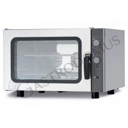 Forno elettrico meccanico a convezione per gastronomia - umidificatore - trifase -  per 4 teglie GN 1/1 530 x 325 mm
