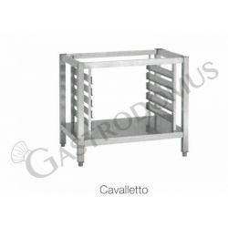 Porta teglie (quantità 5) + cavalletto con ripiano adatto a forni 10 teglie GN1/1 o 600 x 400 mm