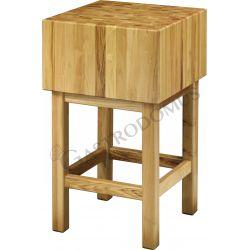 Ceppo in legno spessore 25 cm + sgabello dimensioni L 70 cm x P 70 cm x H 90 cm