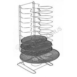 Supporto per retine verticale in acciaio inox, 12 posti e altezza 70 cm