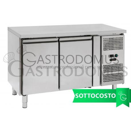 Tavolo refrigerato - 2 porte - Prof. 700 - temperatura -2°C/+8°C