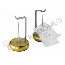 Portacomande con base in ottone e spillone in inox