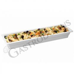 Bacinella in melamina Gastronorm GN 2/4 con dimensioni L 530 mm x P 162 mm x H 20 mm