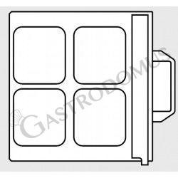 Stampo per termosigillatrice - 4 impronte dimensioni 180 mm x 135 mm