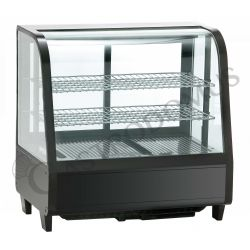 Espositore refrigerato da banco ventilato - capacità 100 LT - luce interna neon