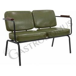 Divanetto Drive con struttura in metallo verniciato, seduta e schienale in ecopelle