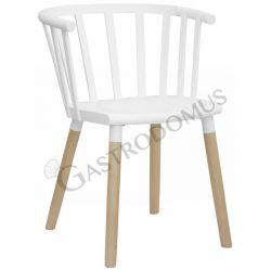 Sedia Riga con gambe in legno e struttura in polipropilene e metallo