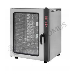 Forno elettrico a convezione per gastronomia, umidificatore,porta bandiera,comandi digitali, trifase, 10 teglie GN 1/1 530x325mm
