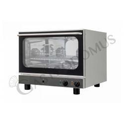 Forno elettrico per pasticceria con umidificatore, comandi meccanici, porta a ribalta, monofase per 4 teglie 600x400 mm