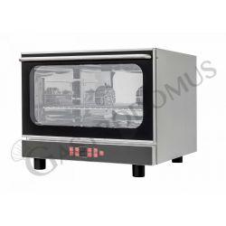 Forno elettrico a convezione per pasticceria, umidificatore e grill, porta ribalta, comandi digitali, 4 teglie 600X400 mm