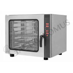 Forno elettrico trifase a convezione per pasticceria con umidificatore e grill per 6 teglie 600X400 mm